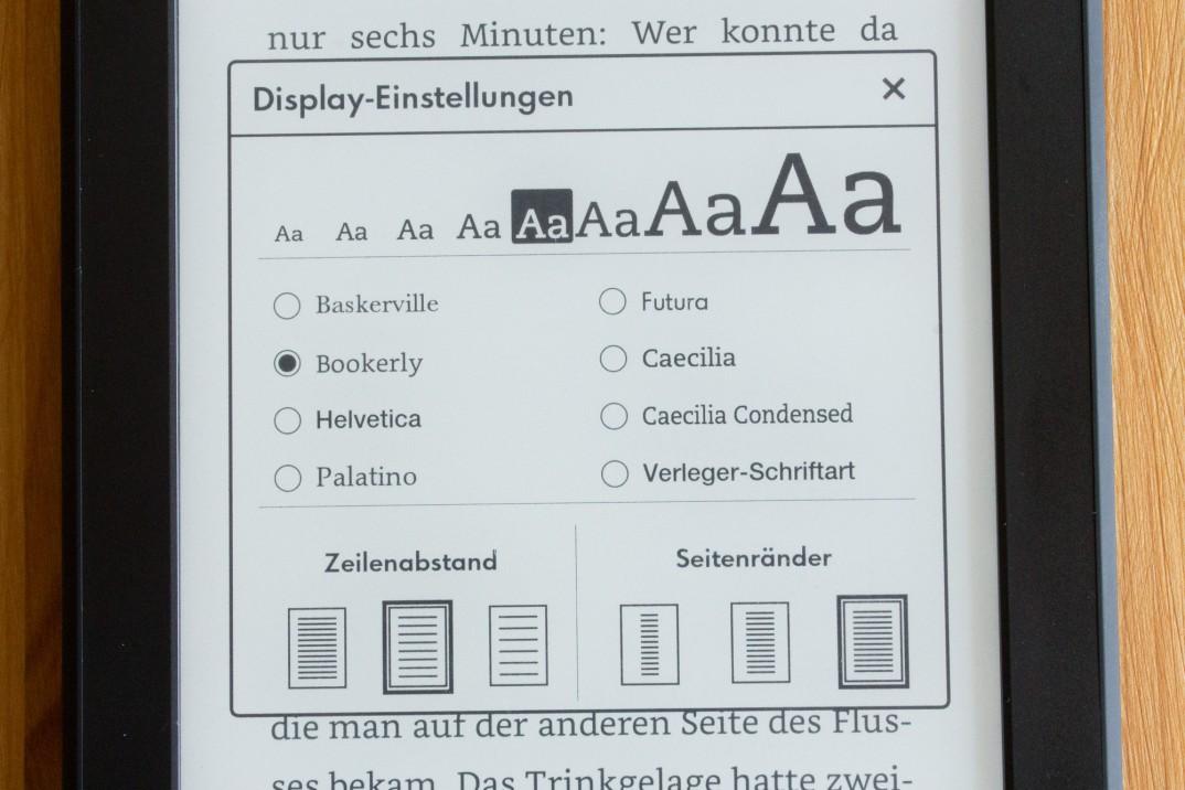 Einstellungen zur Schrift und Typografie