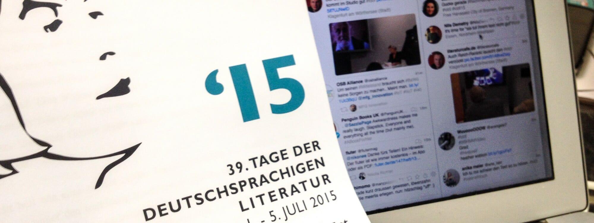 Live mit #tddl: Der Bachmannpreis 2015 auf Twitter