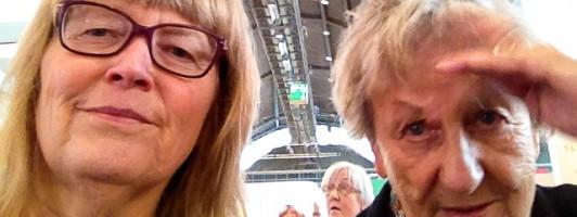 Barbara Fellgiebel (links) und Ingrid Noll