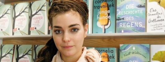 Cornelia Travnicek auf der Frankfurter Buchmesse 2015 (Foto: Tischer)