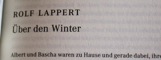 Lappert: Über den Winter