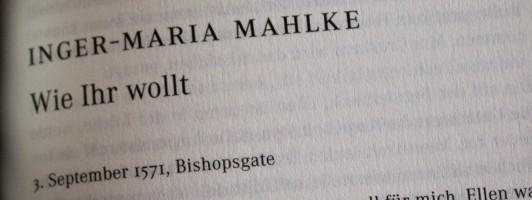 Inger-Maria Mahlke: Wie Ihr wollt