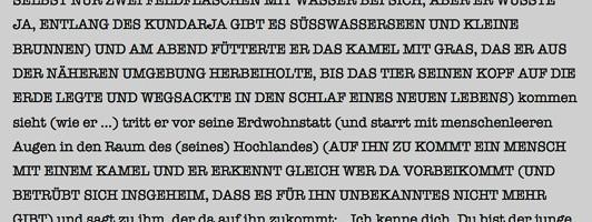 Ausschnitt aus dem Hörspielmanuskript »Dshan« von Lothar Trolle, das uns der Autor zur Einsicht freundlicherweise zur Verfügung gestellt hat.