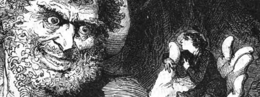 Das kalte Herz: Zeichnung von Bertall aus dem »Mährchen fur Söhne und Töchter gebildeter Stände« von Wilhelm Hauff, Stuttgart 1869
