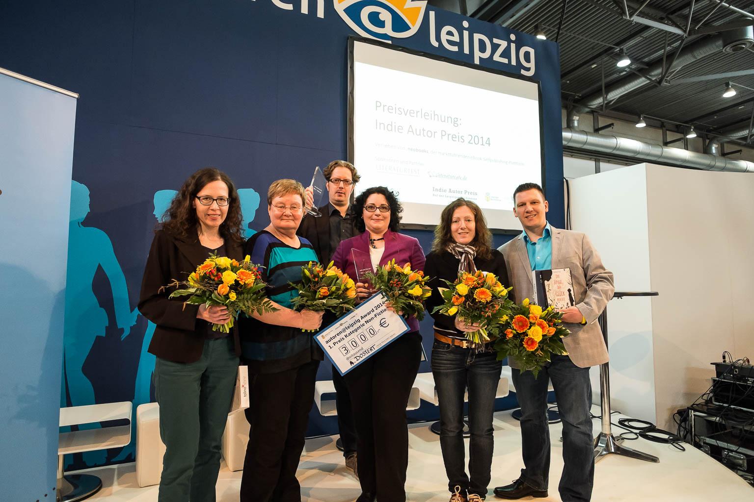 Die Gewinner des 2. Indie Autor Award 2014 (Foto: Birgit-Cathrin Duval)
