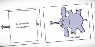 Das Kindle-Kinderbuch »Wer ist unterm Tisch versteckt?«