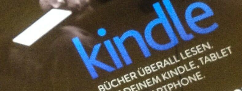 Kindle Werbung in der S-Bahn
