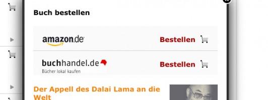 Bei den SPIEGEL-Bestsellern verlinkt der SPIEGEL parallel auch auf buchhandel.de
