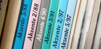 Ältere Ausgaben von Literaturzeitschriften
