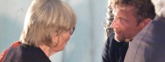 Barbara Fellgiebel im Gespräch mit Christian Lund, Leiter von Louisiana literature (Foto: Jana Groß)
