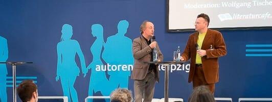 Matthias Matting (links) im Gespräch mit Wolfgang Tischer (Foto: Birgit-Cathrin Duval)