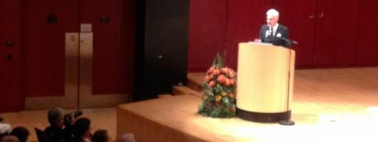 Rainald Goetz 2013 bei seiner Dankesrede zum Schillerpreis in Stuttgart