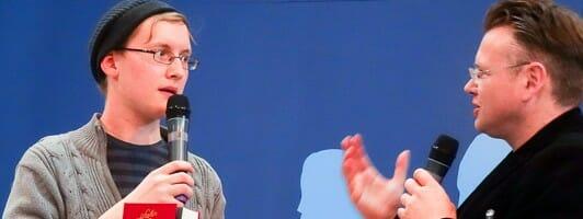 Stefan Bachmann (links) im Gespräch mit Wolfgang Tischer