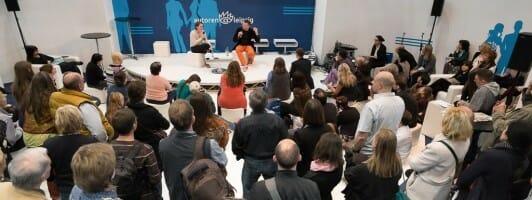 Tina Pfeifer im Gespräch auf dem Forum autoren@leipzig