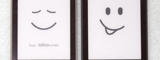 Tolino Vision (links) und Tolino Vision 2. Wo ist der Unterschied?