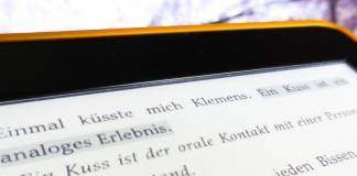 Ein Travnicek-Text auf dem E-Reader