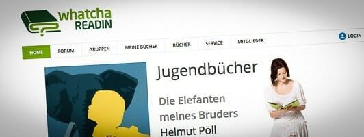 Screenshot: whatchareadin.de