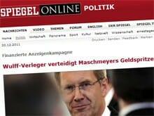 Bericht im SPIEGEL Online über die Zuschusszahlungen zur Wulff-Buch-Werbung
