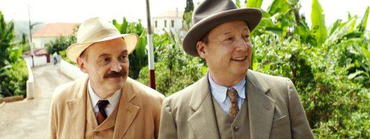 Stefan Zweig (Josef Hader) erhält Besuch vom Autorenkollegen Ernst Feder (Matthias Brandt) (Foto: X Verleih))