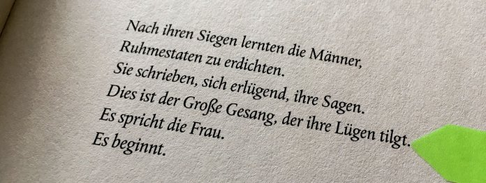 Motto des Buches »Die Geschichte der Frau« von Feridun Zaimoglu